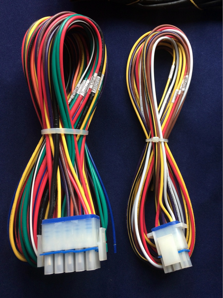 Ultima Complete Electronic Wiring Harness System Harley And Custom For Each Wire Is Color Coded Labeled