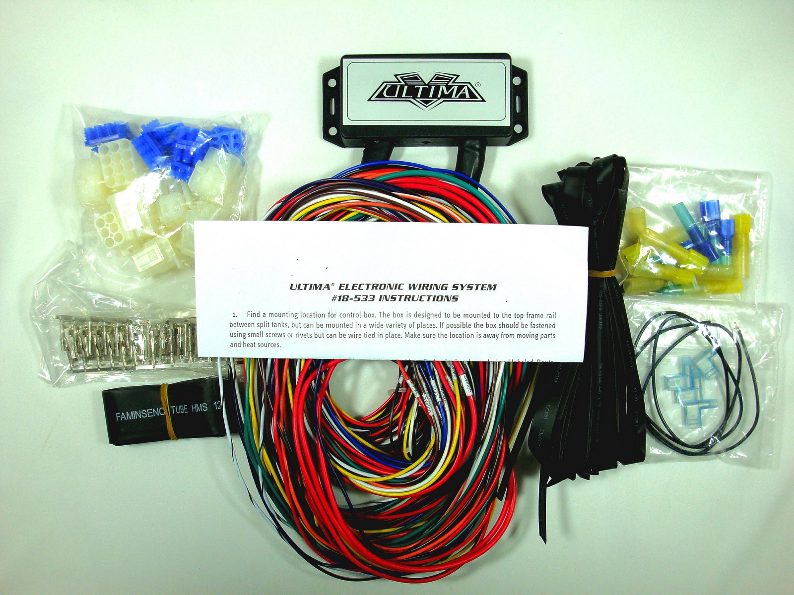 Ultima Plus Electronic Wiring Harness System For Harley And Custom Motorcycle Engine Diagram Instructions Are Included